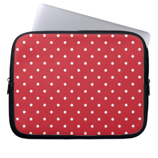 Fifties Style Red Polka Dot Laptop/iPad 2 Case Laptop Computer Sleeve