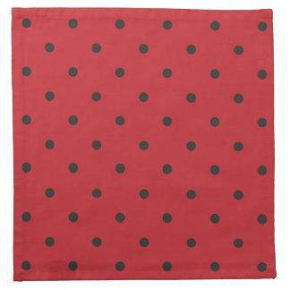 Fifties Style Red Polka Dot Napkins