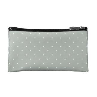Fifties Style Silver Gray Polka Dot Makeup Bags