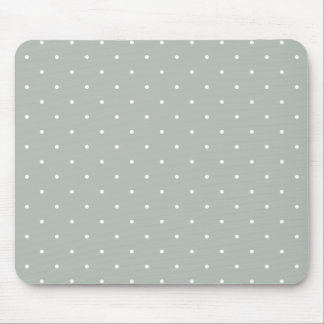 Fifties Style Silver Gray Polka Dot Mouse Pad