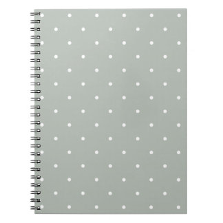 Fifties Style Silver Gray Polka Dot Notepad Notebooks