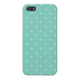 Fifties Style Turquoise Polka Dot Cover For iPhone 5/5S