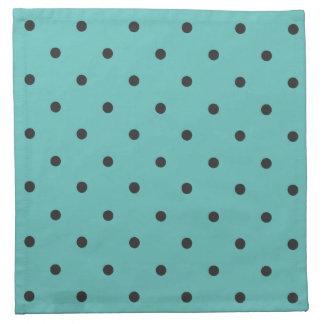 Fifties Style Turquoise Polka Dot Printed Napkins