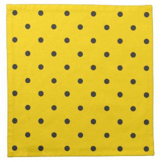 Fifties Style Yellow Polka Dot Printed Napkin