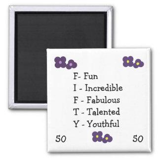 Fiftieth Birthday Acronym Magnet