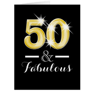 Fiftieth fifty 50th birthday party card