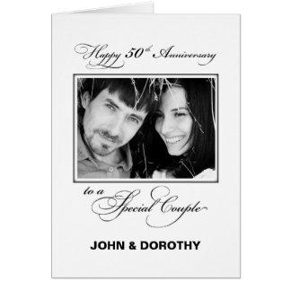 Fiftieth Wedding Anniversary Custom Name & Photo Card