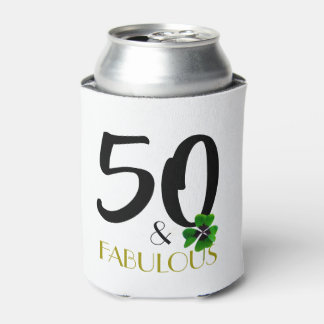 Fifty and fabulous can cooler