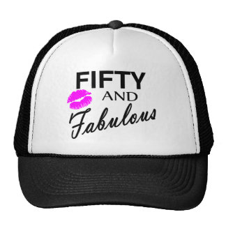 Fifty And Fabulous Mesh Hats