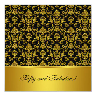 Fifty and Fabulous Invitation