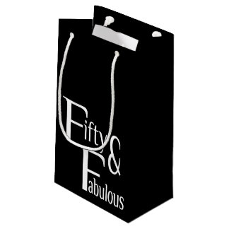 Fifty and Fabulous Small Gift Bag
