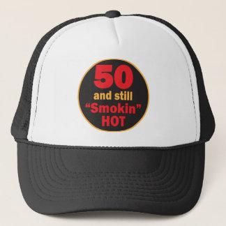 Fifty and Still Smokin Hot   50th Birthday Trucker Hat