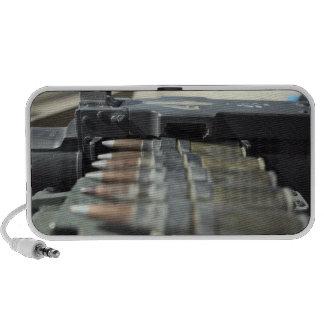 Fifty-caliber machine gun rounds notebook speakers