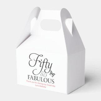 Fifty & fabulous Favor Birthday box