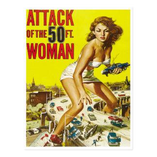 Fifty Foot Alien Women Postcard