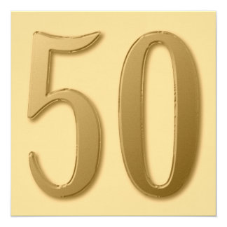 Fifty is Golden Card