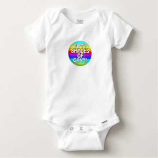 FIFTY SHADES OF GAY MULTI SHADE BABY ONESIE