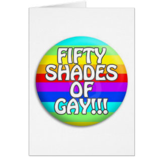 FIFTY SHADES OF GAY MULTI SHADE CARD