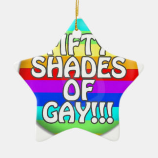 FIFTY SHADES OF GAY MULTI SHADE CERAMIC STAR ORNAMENT