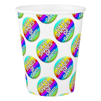 FIFTY SHADES OF GAY MULTI SHADE PAPER CUP