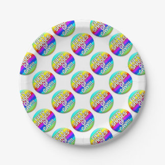 FIFTY SHADES OF GAY MULTI SHADE PAPER PLATE