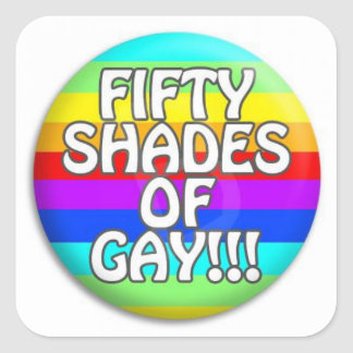 FIFTY SHADES OF GAY MULTI SHADE SQUARE STICKER