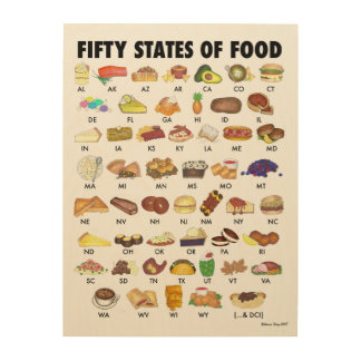 FIFTY STATES OF FOOD United States America USA Art