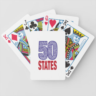 Fifty United States of America Bicycle Playing Cards