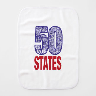 Fifty United States of America Burp Cloth