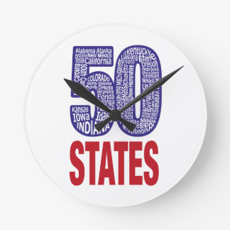 Fifty United States of America Clock