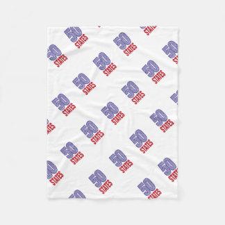 Fifty United States of America Fleece Blanket