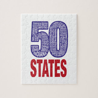 Fifty United States of America Jigsaw Puzzle