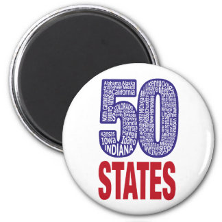 Fifty United States of America Magnet