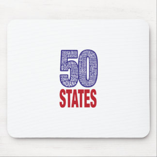 Fifty United States of America Mouse Pad