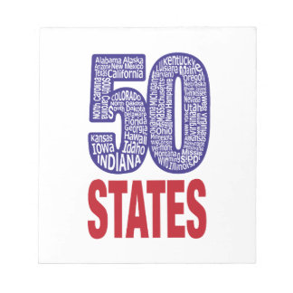 Fifty United States of America Notepad