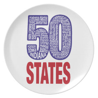 Fifty United States of America Plate