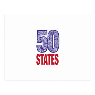 Fifty United States of America Postcard
