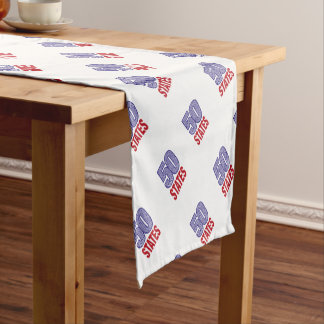 Fifty United States of America Short Table Runner