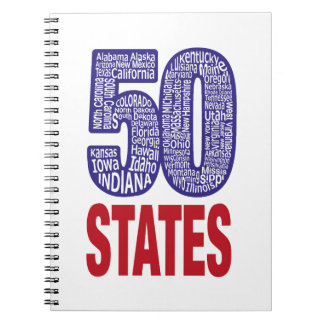 Fifty United States of America Spiral Notebook
