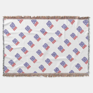 Fifty United States of America Throw Blanket