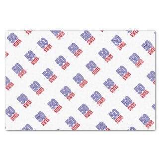 Fifty United States of America Tissue Paper