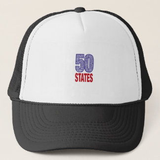 Fifty United States of America Trucker Hat