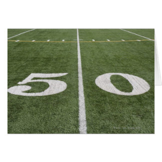 Fifty yard line card