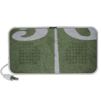 Fifty yard line on sports field mini speaker