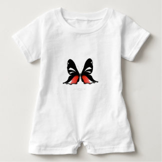 fig 3 Red Butterfly by tony fernandes Baby Romper