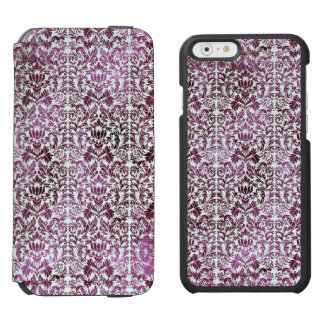 Fig and Plum Purple Floral Victorian Damask Incipio Watson™ iPhone 6 Wallet Case