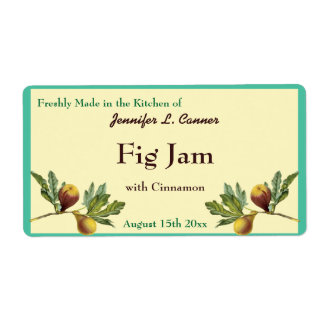 Fig Jam or Preserves Canning Jar Food Label Shipping Label