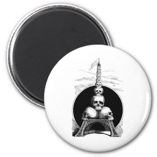 Figaro. An Eiffel Tower for the Cemetery 2 Inch Round Magnet