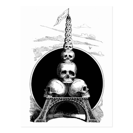Figaro. An Eiffel Tower for the Cemetery Postcard
