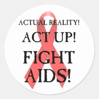 Fight Aids! Classic Round Sticker